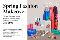 Win a $500 Spring Closet Makeover! Pin your favorite spring styles and complete the entry form:bit.ly/1xBOs4I (copy+paste)