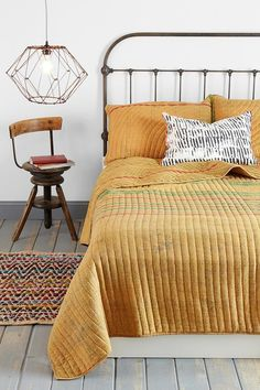 Super soft cotton Jaipur Overdyed Quilt from Noodle. #urbanoutfitters