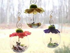 Decorations - flower globes