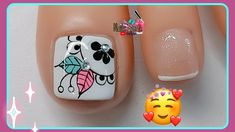 Cute Toe Nails, Cute Toes, Nail Art Videos, Nail Spa, Pedicure, Nail Designs, Nail Polish, Lily, Tattoos
