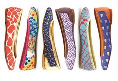 Colorful ballet flats!  So cute!