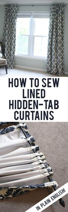 Easy, straightforward steps to making your own black-out lined back-tab curtains! by Leann2 by colorcrazy