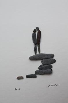 fabriquer un tableau avec des pierres