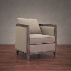 Elliot Beige Linen Lounge Chair 28.25 inches high x 28.25 inches wide x 31.25 inches deep $374 Master Bdrm or Living room