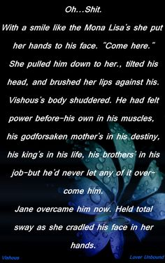 Vishous Jane BDB Black Dagger Brotherhood overcome