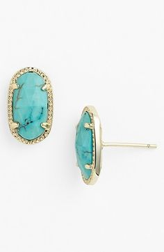 Kendra Scott 'Ellie' Oval Stud Earrings