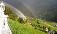 Doppelter Regenbogen in Mühlwald beim Landpalais #Ahrntal - WOOOOOW