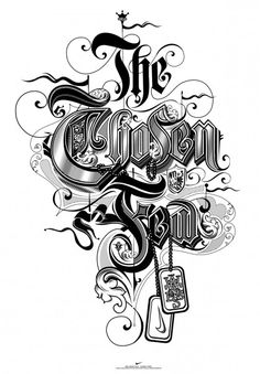 The chosen few lettering design ideas for typography lovers Chicano Lettering, Tattoo Lettering Fonts, Graffiti Lettering, Lettering Styles, Types Of Lettering, Typography Letters, Typography Images, Typography Served, Typography Poster