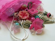 Cupcakes and Flowers Mixed DIY Pink Jewelry by TheBlueBeadle, $3.15