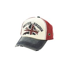 Vintage Denim Cotton Union Jack Baseball Cap ($27) ❤ liked on Polyvore