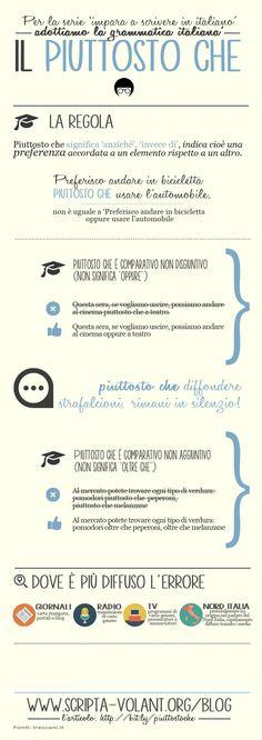 Salviamo l'identità del Piuttosto che! #grammatica #infografiche #piuttostoche