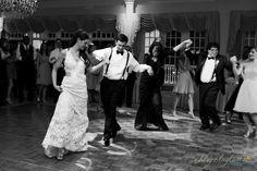 Bride leading the Greek Dance.