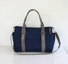 SALE Messenger Bag / Diaper Bag / Tote in Navy blue & by ickadybag, $42.30  Too early to be looking at nappy bags??