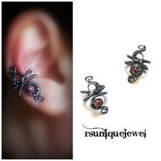 No Piercing Earrings Cartilage Ear Cuff Goth by rsuniquejewel
