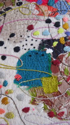 louise baldwin textile detail from 'Still here'