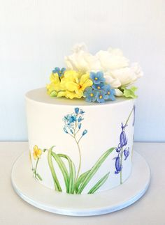 Hand painted spring flowers | Sweet Disposition Cakes