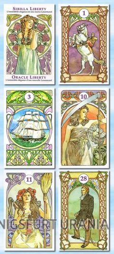 Lenormandkarten - Jugendstil, Sibilla Liberty, Oracle Liberty