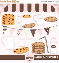 70% OFF SALE Milk and cookies clipart, milk and cookies clipart, party clipart, birthday clipart, baby shower, commercial use - CA163 by PremiumClipart on Etsy https://www.etsy.com/listing/238242025/70-off-sale-milk-and-cookies-clipart