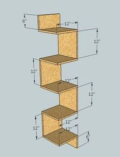 Building some DIY corner shelves might be a great idea for your next weekend project. Corner shelves are a smart solution for your small space. If you want to have shelves but you don't want to be too much on . Diy Wall Decor, Diy Home Decor, Regal Bad, Diy Casa, Wall Shelves, Bathroom Shelves, Book Shelves, Bathroom Ideas, Corner Shelves Bedroom