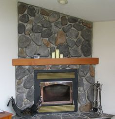 Art, Excellent Large Stone Corner Fireplace Mantel Design Ideas For Your Home Interior With Arts And Crafts In Above Areas: Captivating Ideas Arts and Crafts Fireplace Mantels Corner Fireplace Layout, Corner Fireplace Mantels, Wood Mantle Fireplace, Corner Electric Fireplace, Fireplace Design, Fireplace Ideas, Electric Fireplaces, Mantles, Mantle Ideas