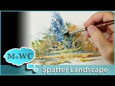 Painting a Watercolor Landscape, Spontaneous Painting with Spatter WOW! Talk about Beautiful! I Love this Watercolor painting! Watercolor Video, Watercolour Tutorials, Watercolor Techniques, Watercolor Landscape, Watercolour Painting, Painting Techniques, Painting & Drawing, Watercolors, Watercolor Basic