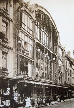 May 22, 1967: 322 killed in fire at L'Innovation Department Store, Brussels. No one knows what started the fire, but the combination of wooden floors and walls, a central atrium (think: chimney), decorative flags and wall hangings, and a display of butane canisters proved deadly. Photo is of the store's grand opening in 1903.