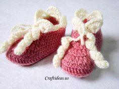 Free Baby Booties crochet baby booties