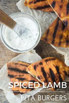 Spiced Lamb Pita Burgers --- a wonderfully crisp, juicy take on the all American burger! theviewfromgreati...