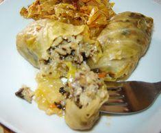 La Ancuţa: Sarmale cu orez si ciuperci Romanian Food, Meat, Chicken, Buffalo Chicken, Rooster