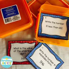 Dollar store sandwich containers are the perfect task card holders! Easy way to stay organized!