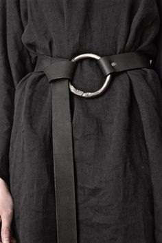 Archive: Iron O-Ring Belt w/Loop Through Closure (Standard and Extra Long) - Hand Forged Iron O-Ring Belt w/Loop Through Closure (Limited Edition) - Leather Accessories, Fashion Accessories, Older Women Fashion, Womens Fashion, How To Wear Belts, Corset Belt, Fashion Details, Fashion Design, Fashion Belts