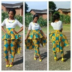 African/ethnic / circle high waist women pants with wrap round skirt African Print Dresses, African Dresses For Women, African Wear, African Attire, African Fashion Dresses, African Women, African Prints, African Inspired Fashion, African Print Fashion