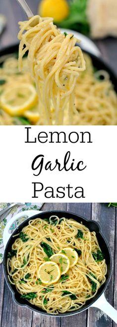 Easy Lemon Garlic Pasta - My Suburban Kitchen