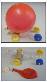 In this activity, students design and build a balloon-powered car to better understand the science ideas related to rocket propulsion. They use ideas of mass and force to work out ways to improve the distance travelled by their car. Science Week, Science Experiments Kids, Science Fair, Science Lessons, Science For Kids, Balloon Powered Car, Balloon Cars, Balloons, Primary Science