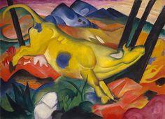 Franz Marc, The yellow Cow, 1911,Guggenheim Museum,New York.