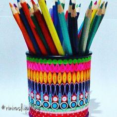 Pencil case  #rinirusliquilling #pencilcase #papercraft #handmade #kadounik