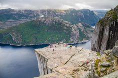 """Norsko, Preikestolen - 600 metrů vysoká kolmá stěna, která se přezdívá """"Kazatelna"""". Trondheim, Bergen, Rafting, Nature, Travel, Voyage, Viajes, Traveling, The Great Outdoors"""