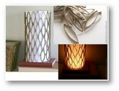 Toilet paper tube light cover. #recycle #diycrafts #diyhomedecor