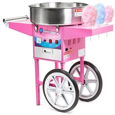 Olde Midway Commercial Quality Cotton Candy Machine Cart and Electric Candy Floss Maker  SPIN 2000 >>> BEST VALUE BUY on Amazon #NostalgiaCollections