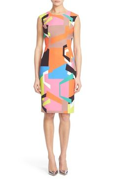 MILLY Graphic Print Sheath Dress. #milly #cloth #