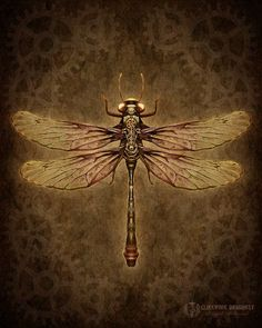 Clockwork Dragonfly from Mystic Pieces Steampunk Style II on Etsy