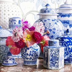 """""""You can never be too rich or too thin or have too much blue and white."""" —Babe Paley"""