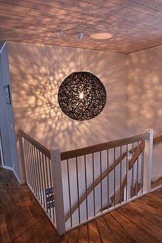Make lamp using string