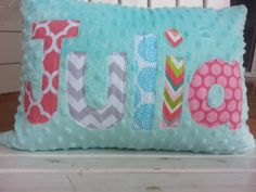 ****see our shop announcement for current turnaround time and shop promotions***      Decorate your home with this adorable minky appliqued name