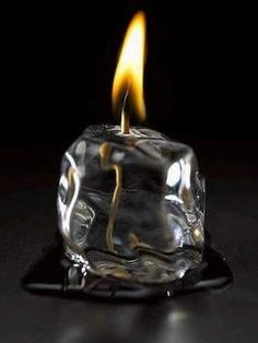 Fire in ''ice'' (incredibly cool candle)