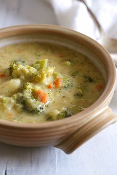 Broccoli Cheese and Potato Soup – thick and hearty, a one-pot meal ready in under 30 minutes!