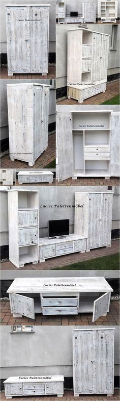 Recycled Wooden Pallets Living Room Wall Plan