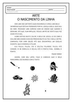 Arte. O nascimento da linha. EM PDF | Atividades Pedagogica Suzano Zen Design, Pets 3, Kids Education, Banner, Clip Art, Humor, Alice, 1, Google
