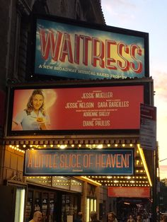 Waitress Musical at the Brooke Atkinson Theatre - Fall Break 2018 with Mom & Grandma New Broadway Musicals, Broadway Theatre, Musical Theatre, Broadway Shows, Broadway Nyc, Jessie Mueller, Waitress Musical, My Academia, Theatre Nerds