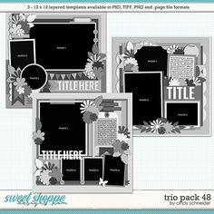 Cindy's Layered Templates - Trio Pack 48 by Cindy Schneider